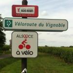 Signalétique Alsace à vélo
