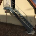 Escalier double limons galvanisé